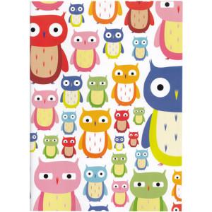 Owls Birds A4 Size Notebook