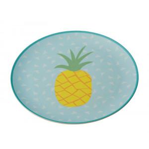 Tropicana Pineapple Design Bamboo Fibre Plate
