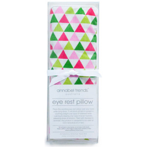Pink and Green Bunting Design Eye Rest Pillow With Lavender