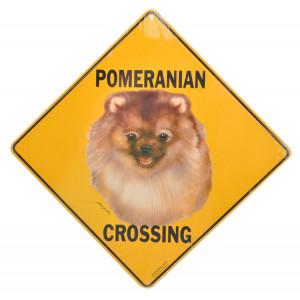 Pomeranian Crossing Road Sign