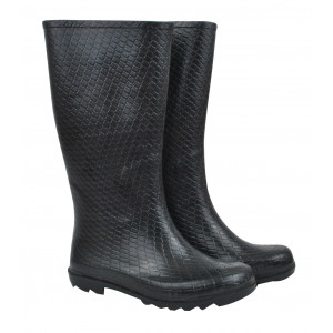 Black Python Design Ladies Wellies Gumboots