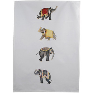 Elephants Stack Tea Towel