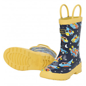 Space Cars Of The Future Design Pull On Kids Rainboots Gumboots By Hatley