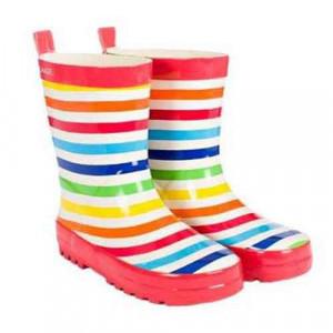 Skeanie Kids Toddler Colourful Rainbow Stripe Wellies Rainboots Gumboots