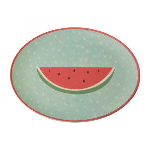 Tropicana Watermelon Design Bamboo Fibre Plate