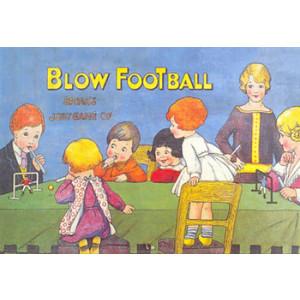Blow Football Game Nostalgic Postcard