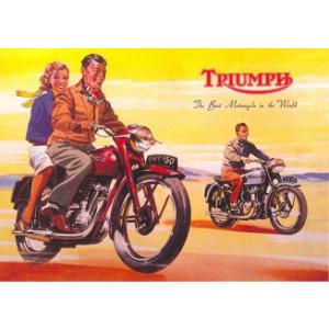 Triumph OHV 150 Motorcycle Nostalgic Postcard