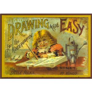 Victorian Box Lid Drawing Made Easy Nostalgic Postcard