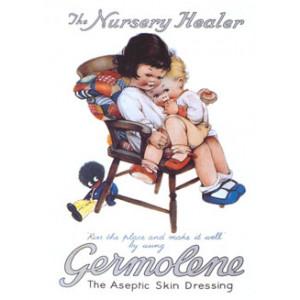 Germolene Girls & Golliwog Postcard