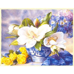 Magnolia Flowers Card