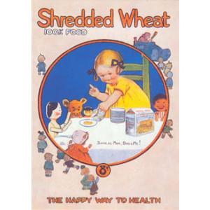 Shredded Wheat 100% Food Postcard