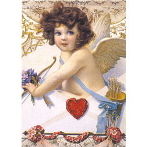 Angel To My Love Nostalgic Postcard
