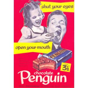 Penguin Chocolate Nostalgic Postcard