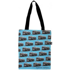 Shopping Carry Bag Melbourne City Circle Tram Blue