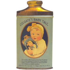 Colgates Baby Talc Postcard