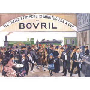 Bovril Train Station Nostalgic Postcard