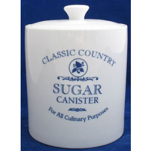 Classic Country Ceramic Sugar Canister