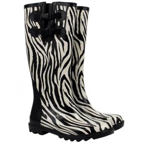 Zebra Design Ladies Wellies Gumboots