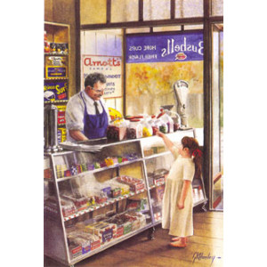 Gordon Hanley Inside Store Postcard