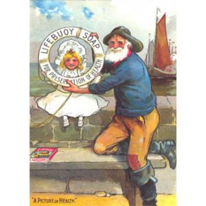 Lifebuoy Soap Man & Girl Postcard