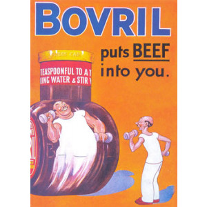 Bovril Put Beef Into You Nostalgic Postcard
