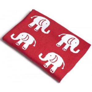 Elephants Design Soft Baby Blanket