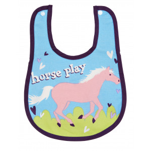 Little Blue House Horse Play Show Pony Coated Infant Bib