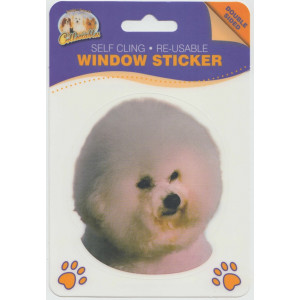 Bichon Frise Dog Self Cling Re-usable Window Sticker