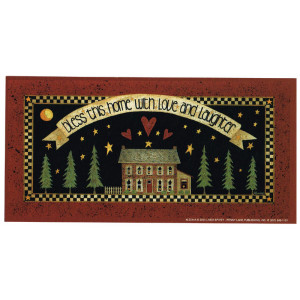 Bless This Home With Love And Laughter 3.5 x 7 Print