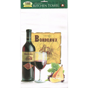Vintage Bordeaux Tea Towel