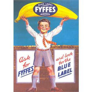 Blue Label Fyffes Brand Nostalgic Postcard