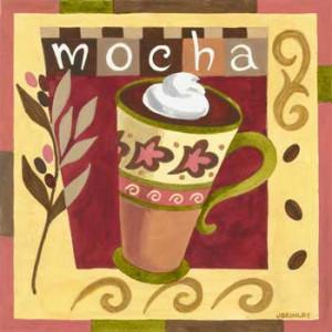 Coffee Mocha Design Eyeglasses Cleaning Cloth