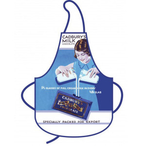 Kitchen Apron Retro Nostalgic Cadburys Milk Chocolate 100% Cotton