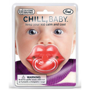 Chill Baby Pacifier Dummy With Red Lips