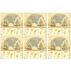 Set of 6 Cork Backed Coasters Galerie de Fleurs