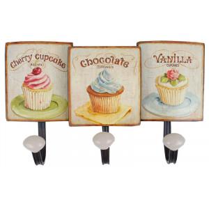 Cupcakes Design Metal Coat Hooks