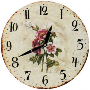 Pink Roses Round Wall Clock