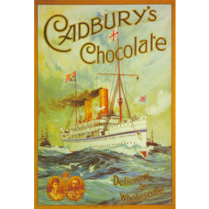Cadburys Chocolate Ship Nostalgic Postcard