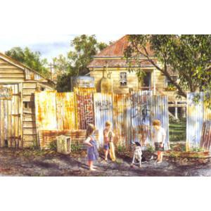 Gordon Hanley Children And Dog Postcard