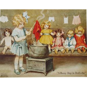 Bessie Gutmann Diamond Dyes Nostalgic Reproduction Tin Sign