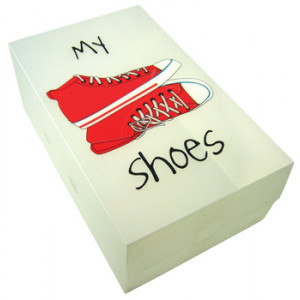 My Shoes Sneakers Plastic Storage Box