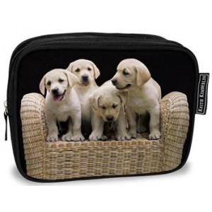 Labrador Puppies Dogs Cosmetic Bag