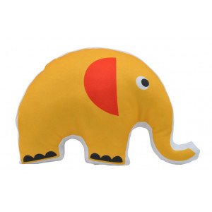 Kids Childrens Elephant Soft Stuffed Cushion Red and Yellow