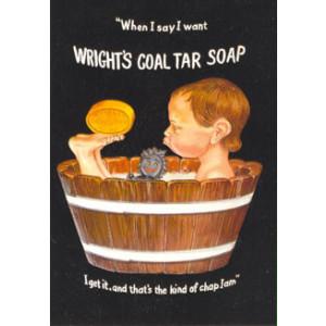 Wrights Coal Tar Soap Postcard