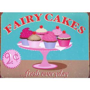 Fairy Cakes 2c... Fresh Everyday Nostalgic Retro Reproduction Tin Sign