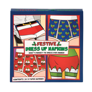Festive Christmas Dress Up Paper Napkins