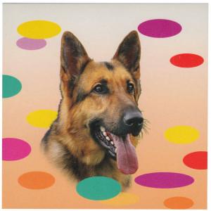German Shepherd Dog Magnetic Notepad