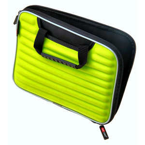 Green Ribbed Design Ipad Case