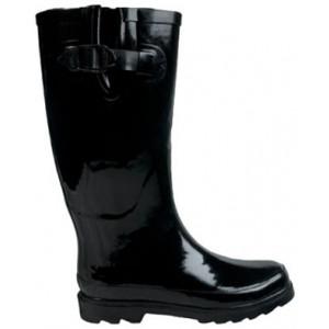 Black Ladies Gumboots Wellies Rainboots