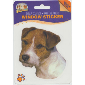 Jack Russell (Rough) Dog Self Cling Re-usable Window Sticker
